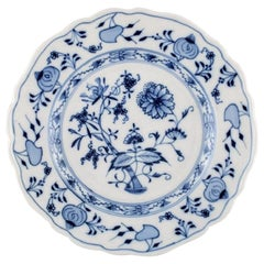 Stadt Meissen Blue Onion Pattern, Lunch Plate, Mid-20th Century