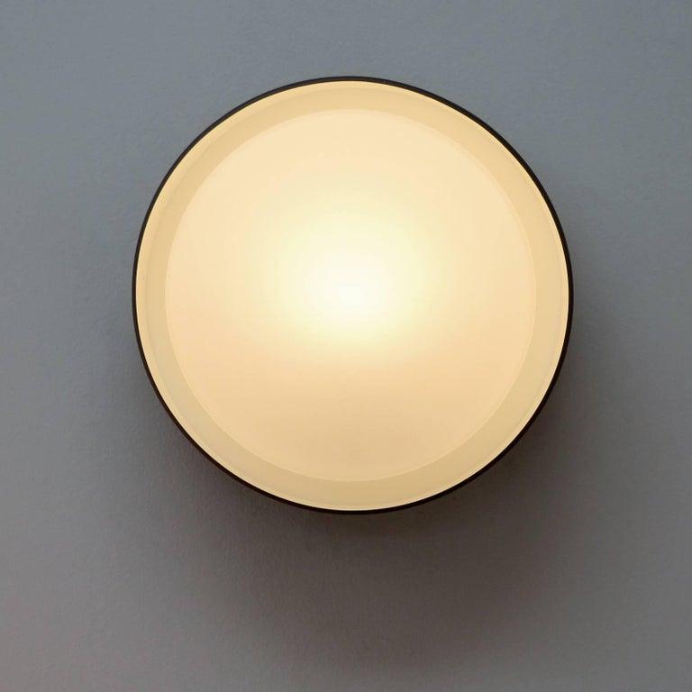 Opaline Glass Staff Flush Mount Lights For Sale