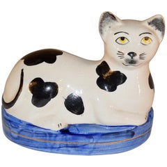 Staffordshire Cat Figure, circa 1970