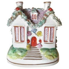 Staffordshire Cottage Still Bank, English, circa 1880
