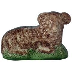 Staffordshire Creamware Ram figure