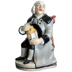 Staffordshire Digital Jug, 'the Night Watchman', circa 1815