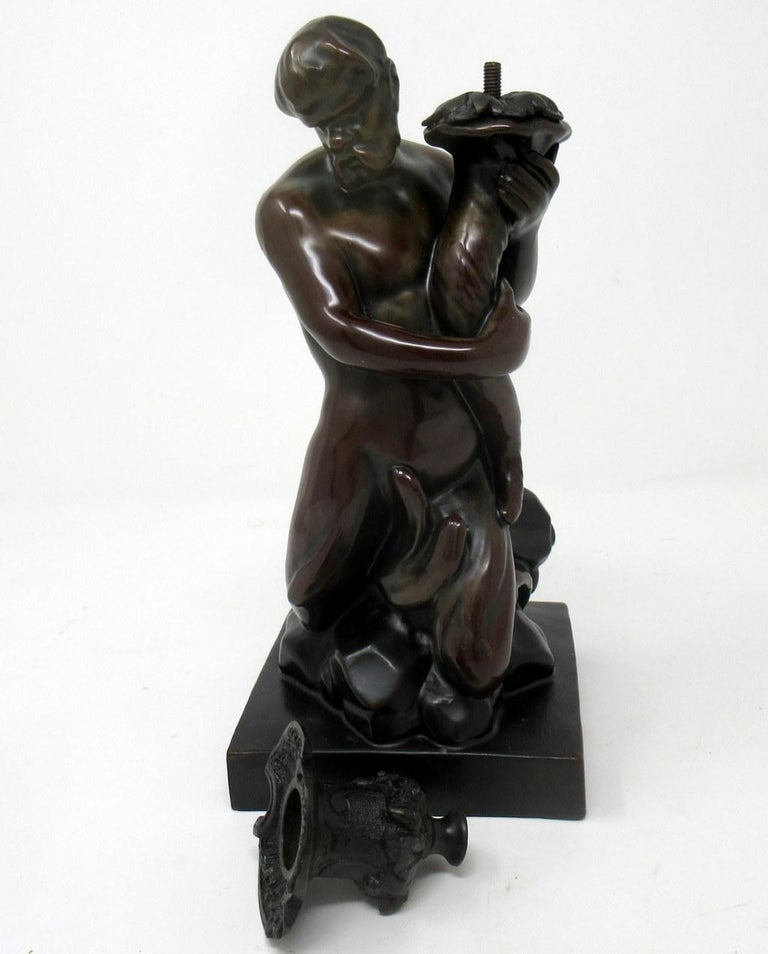 Staffordshire Figure of Male Triton John Flaxman by Wood Caldwell 19th Century In Good Condition For Sale In Dublin, Ireland