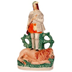 Staffordshire Figure of the Scotch Hunter, England, circa 1860