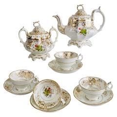 Staffordshire Part Tea Service, Rococo Revival Style, circa 1845