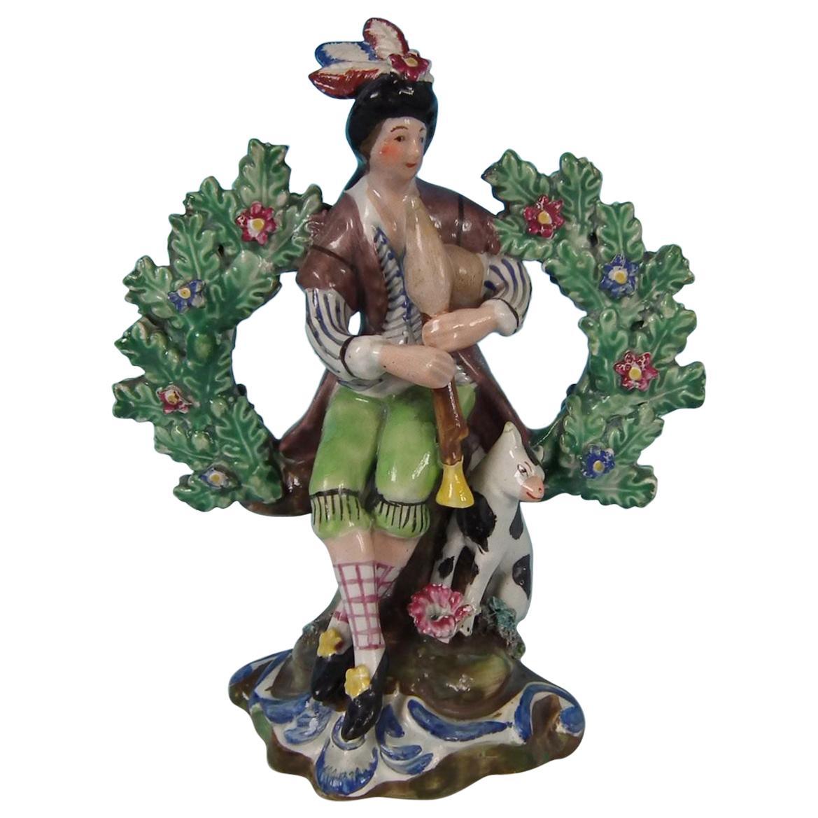 Staffordshire Pearlware Bocage Piper Figure