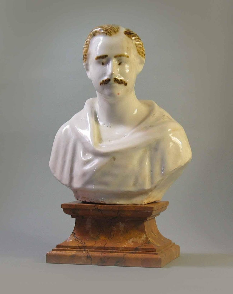 Staffordshire Pearlware Bust of Prince Albert, circa 1850 For Sale 2