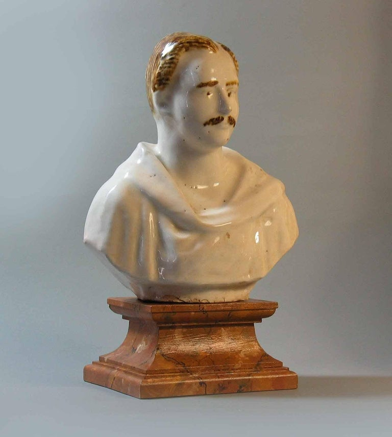 Staffordshire Pearlware Bust of Prince Albert, circa 1850 In Good Condition For Sale In Ottawa, Ontario