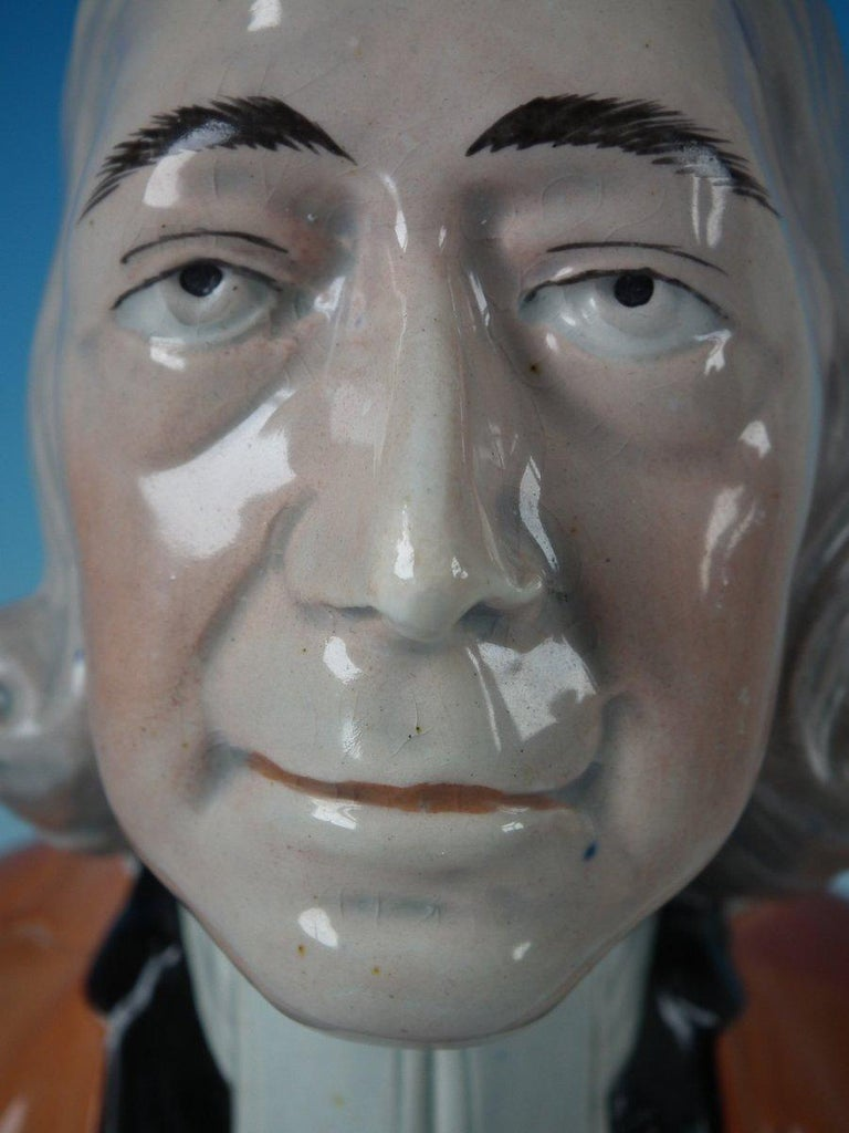Staffordshire Pearlware 'John Wesley' Bust For Sale 5
