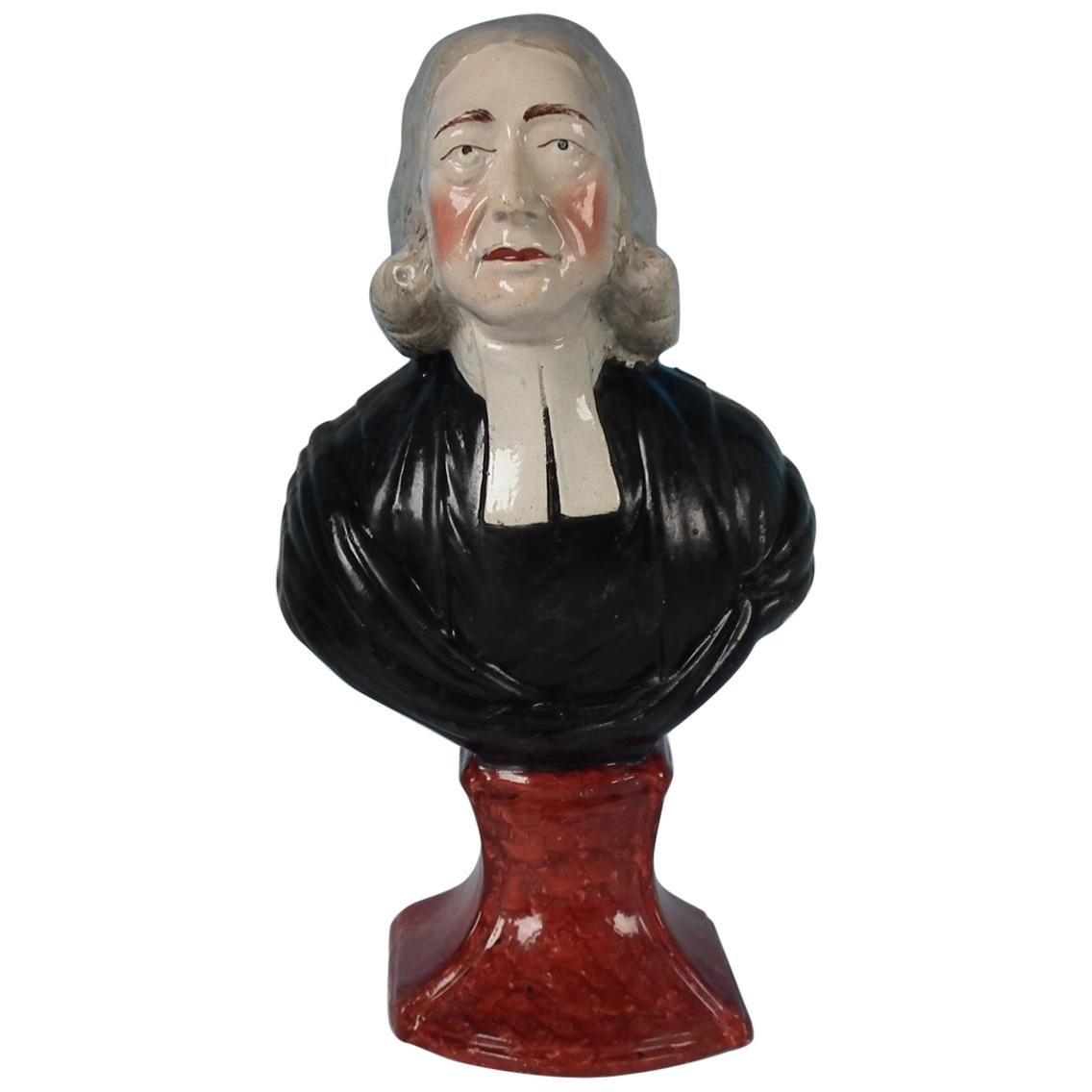 Staffordshire Pearlware 'John Wesley' Bust