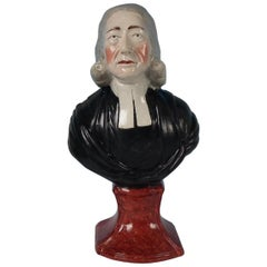 Staffordshire Pearlware 'John Wesley' Bust