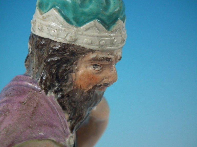 Staffordshire Pearlware Neptune Figure For Sale 13