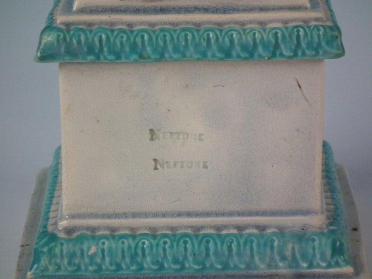 Folk Art Staffordshire Pearlware Neptune Figure For Sale
