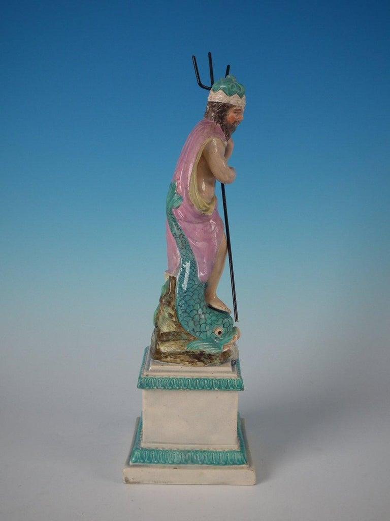 Staffordshire Pearlware Neptune Figure For Sale 1