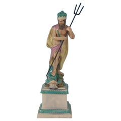 Staffordshire Pearlware Neptune Figure
