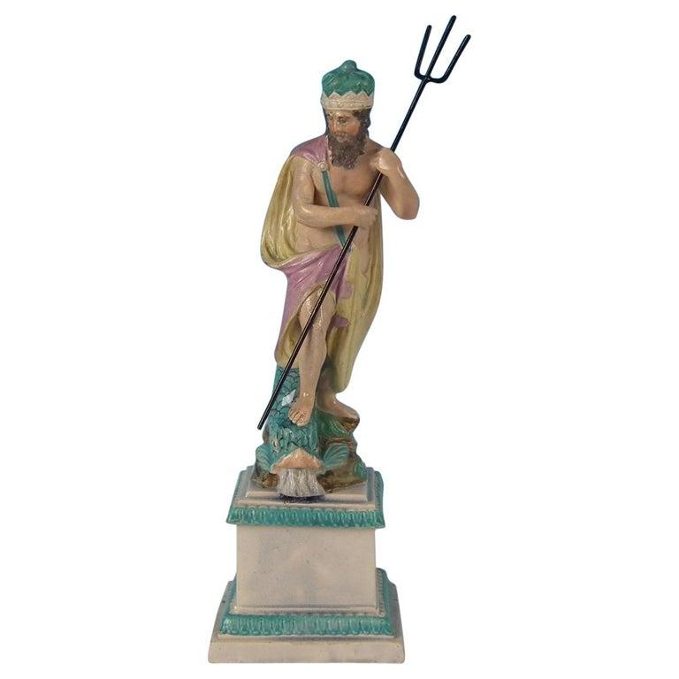 Staffordshire Pearlware Neptune Figure For Sale
