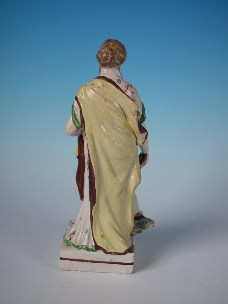 Staffordshire Pearlware 'Peace' Figure In Good Condition For Sale In Battlesbridge, Essex