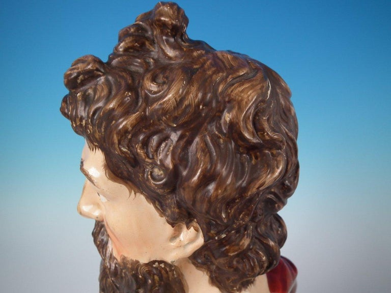 Staffordshire Pearlware Plato Bust For Sale 9