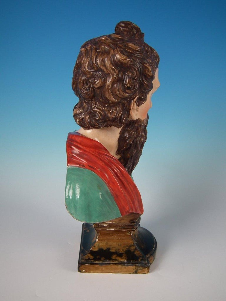 English Staffordshire Pearlware Plato Bust For Sale