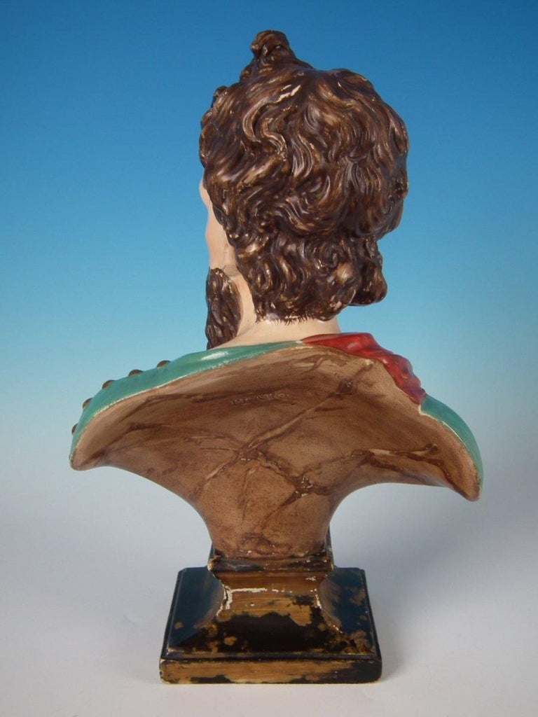 Staffordshire Pearlware Plato Bust In Good Condition For Sale In Battlesbridge, Essex