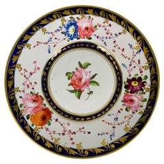 Staffordshire Porcelain Dish Decorated with Roses Made in England, circa 1820