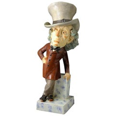 Staffordshire Pottery Charcture Figure of Benjamin Disraeli