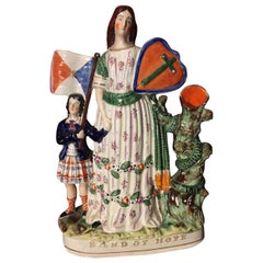 "Staffordshire Pottery Figure, ""Band of Hope"", circa 1860"