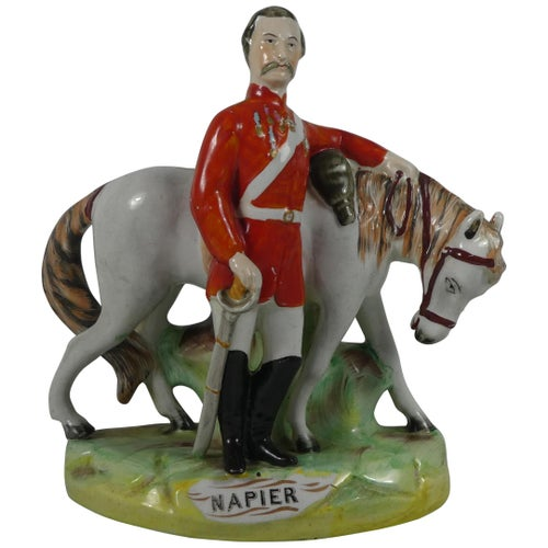 Staffordshire Pottery Group General 'Napier', circa 1860