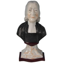 Staffordshire Pottery 'John Wesley' Bust
