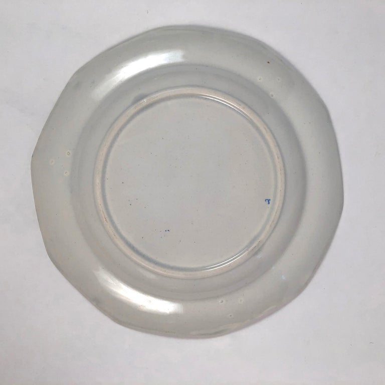 Staffordshire Sea Shell and Butterfly Plate, circa 1820-1830 For Sale 2