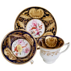 "Staffordshire Teacup Trio, Superb ""v"" Decoration, circa 1820"