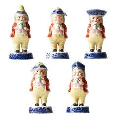Staffordshire Toby Figural Condiment Set, circa 1820