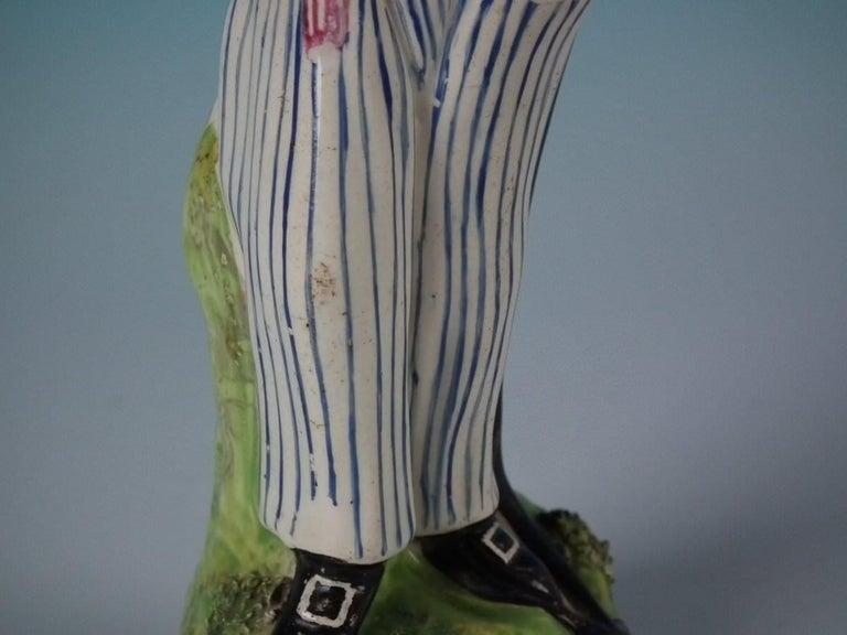 Stafforshire Pearlware Sailor Figure For Sale 2