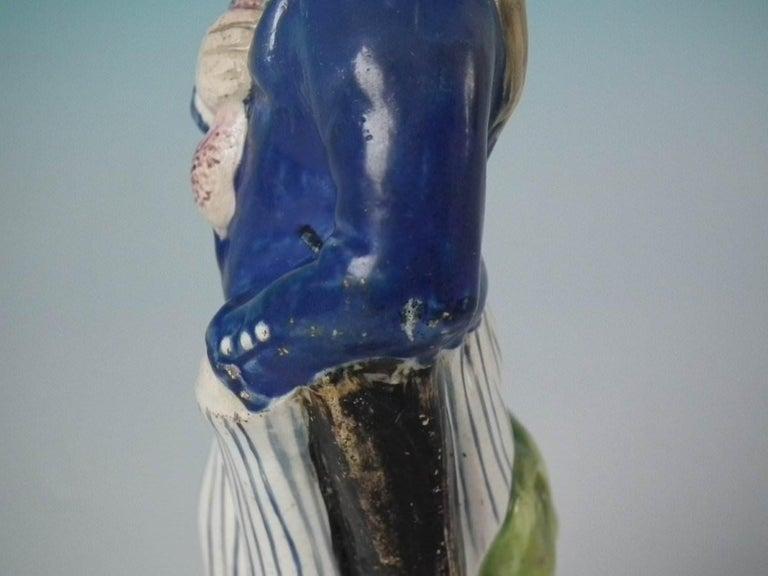 Earthenware Stafforshire Pearlware Sailor Figure For Sale