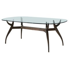 Stag Dining Table with Glass Top
