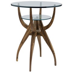 Stag/G Bar Table with Glass Top