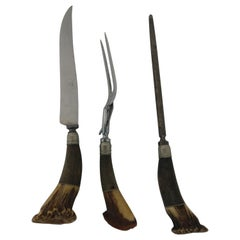 Stag Horn 3-Piece Cutlery Set, circa 1940