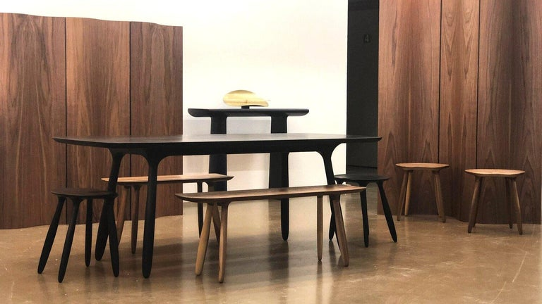 Latvian Stained Ash Daiku Table by Victoria Magniant For Sale