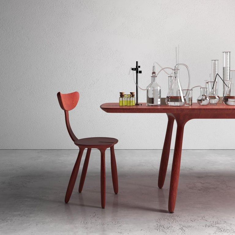 Celebrating the natural beauty of walnut, the Daiku collection is a series of eco-designed pieces inviting simplicity. The surface is deeply brushed to create fluid shapes and finished with natural oil to expose the natural veins. The Daiku