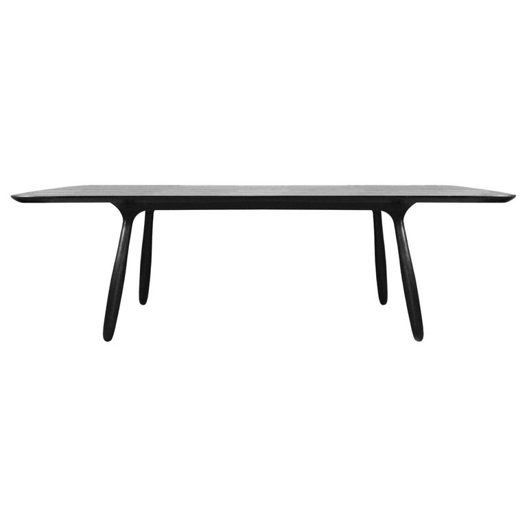 Stained Ash Daiku Table by Victoria Magniant For Sale