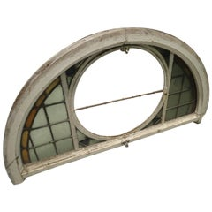 Stained Glass Fanlight / Arched Window, 20th Century