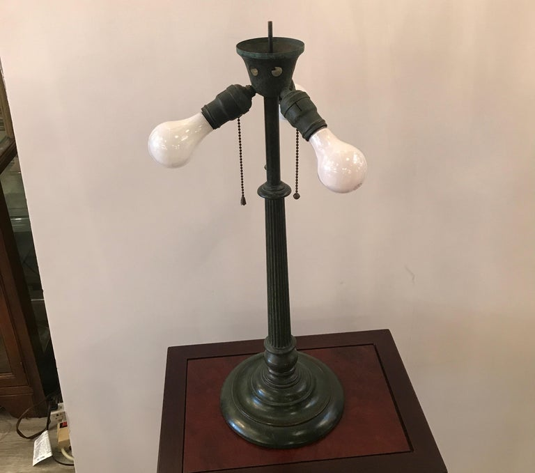 Stained Glass Lamp by Duffner and Kimberly For Sale 1