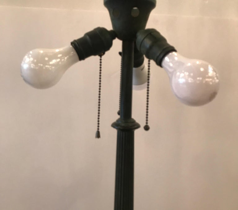 Stained Glass Lamp by Duffner and Kimberly For Sale 2