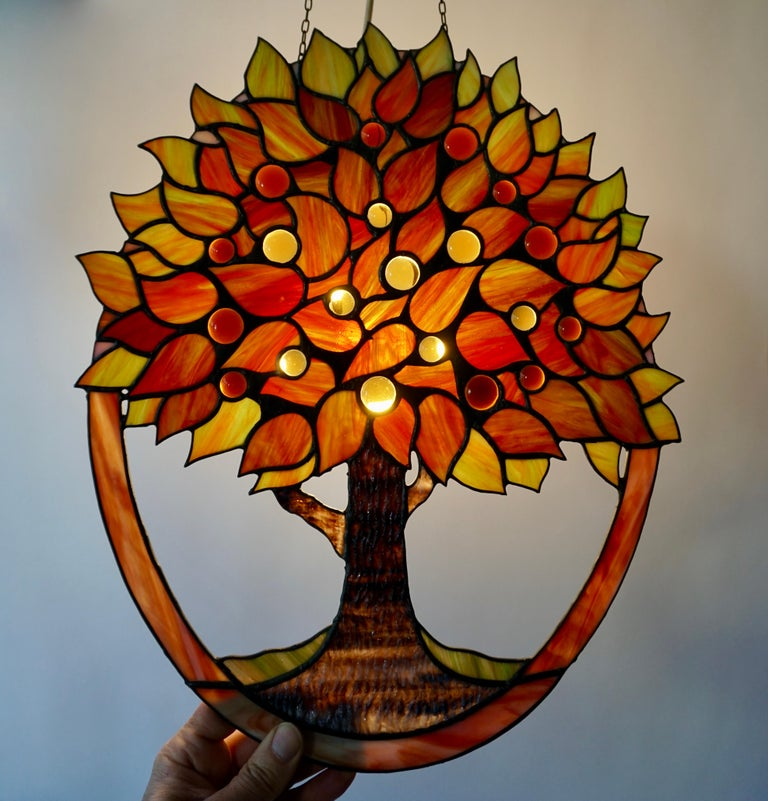 Stained Glass Panel In Good Condition For Sale In Antwerp, BE