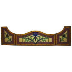 Stained Glass Window Panels, Set of Four, circa 1930