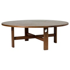 Stained Oak Coffee Table Designed by Hans J. Wegner for GETAMA, Denmark, 1960s