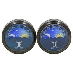 Stainless Steel Black PVD Moonphase Cufflinks