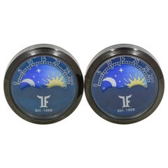 Stainless Steel Black PVD Moving Moonphase Cufflinks