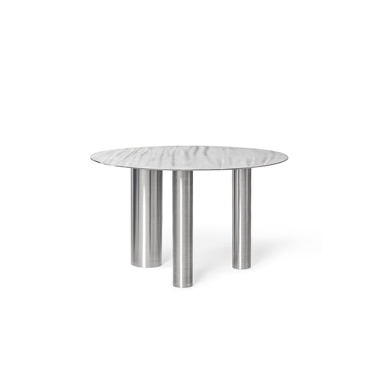 Stainless Steel Brandt High Coffee Table by Noom For Sale 6