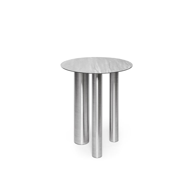 Stainless Steel Brandt High Coffee Table by Noom In New Condition For Sale In Geneve, CH